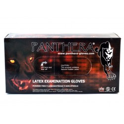 Panthera Svartir latex hanskar